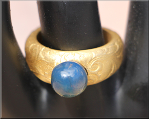 Blue Amber Ring Dominican